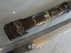 033 -High-quality Japanese Damascus Blade Sword Samurai Katana Full Tang Signed