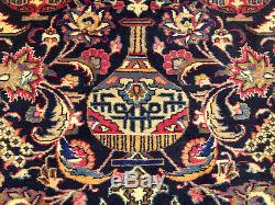 10x13 SIGNED Handmade High Quality Antique Pictorial Kashmar Wool Rug-Excellent