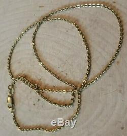 14k Yellow Gold Chain Made In Italy Signed By Maker Solid 3.4 Gms. High Quality