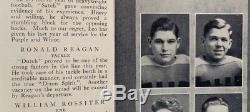 1928 Hand Signed President Ronald Reagan Dixon High School Yearbook w COA PSA