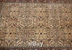 1930s ORIGINAL HIGHLY COLLECTIBLE TURKISH HEREKE RUG Signed 7x10 Museum Quality