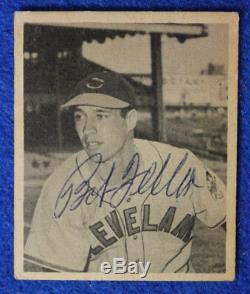 1948 Bowman Bob Feller Card Signed #5 Rookie High Grade JSA authenticity