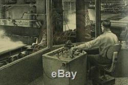 1953 Jackson Lee Nesbitt Pencil Signed Three High Rolling Mill Lithograph