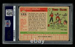 1955 Topps #123 Sandy Koufax RC HOF Signed AUTO PSA 2.5 / 9 CENTERED HIGH END