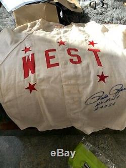 1958 Pete Rose Signed Game Used High School All Star Game Jersey with LOA Reds