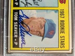 1967 Topps #581 Tom Seaver Autographed Rookie Card- Psa/dna Super High End Mets