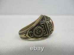 1975 Signed John Roberts 10k Gold Tilton School High School Ring Size 11