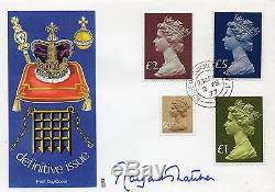 1977 High Value Machin FDC signed Margaret Thatcher, House of Commons CDS