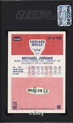 1986 Fleer MICHAEL JORDAN RC #57 Autograph Signed SGC 70 5.5 HIGH END PREMIUM