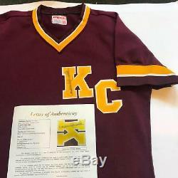 1992 Derek Jeter Signed Original Kalamazoo High School Wilson Jersey JSA COA
