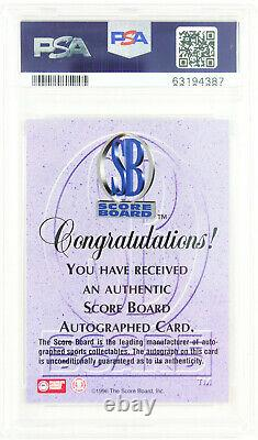 1996 Kobe Bryant Lakers Autograph Signed High School Rookie Card Rc Psa 9 Auto 9