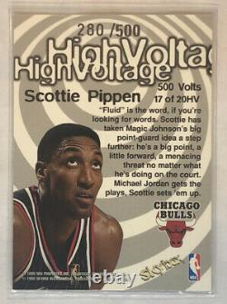 1997-98 Hoops High Voltage 500 Scottie Pippen /500 Amazing Ready For Grading