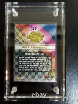 1999 Dale Earnhardt Sr Wheels High Gear Autographed Card 01/100. Card #1 Signed