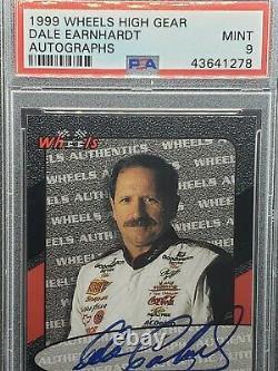 1999 Wheels High Gear Dale Earnhardt Autograph Psa 9 Pop 1 None Higher Goat Auto
