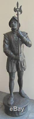 19th Century Rare Bronze 40'' High Statue of a Soldier SIGNED MAGNIFICENT