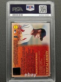 2001 Bowman Albert Pujols RC Rookie Signed AUTO Cardinals PSA 9 HIGH END