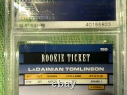 2001 Contenders Ladainian Tomlinson Rookie Ticket Auto Psa 9 #150 Sp High End