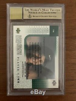 2001 Upper Deck Tiger Woods Players Ink RC BGS 9.5 GEM MINT+ AUTO 10 High Subs