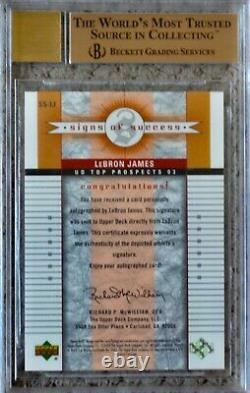 2003 UD Top Prospects Signs Success LeBron James ROOKIE BGS 9.5/10 Auto HIGH END