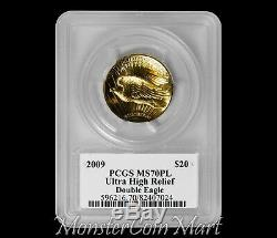 2009 $20 Ultra High Relief PCGS MS70PL DAVID HALL HAND-SIGNED LABEL