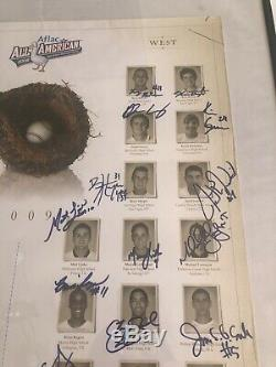 2009 Aflac All American High School Signed Poster Bryce Harper Kris Bryant 24x18