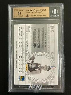 2010-11 National Treasures Jeremy Lin RC Jrsy Auto #32/99 BGS 9.5/10 High Subs