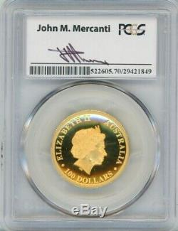 2014-P Wedge-Tailed Eagle High Relief GOLD $100, PR70DCAM Mercanti Signed PCGS