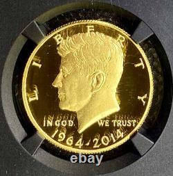 2014-W Gold Kennedy High Relief Half-Dollar PF70 UCAM NGC Early Releases Signed