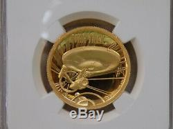 2016 Tuvalu $100 1 Oz Proof Gold Star Trek High Relief Ngc Pf69 Shatner Signed