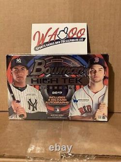 2017 Bowman High Tek Baseball Factory Sealed Hobby Box (4) On Card Autographs