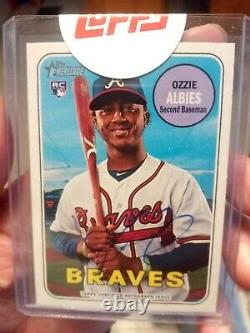 2018 Topps Heritage High Number Ozzie Albies Auto Braves (ROA-RA)