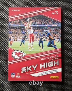 2019 Panini Spectra Football Travis Kelce Sky High Prizm Auto /99 Chiefs