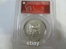 2020 $25 Canada Lynx Multifaceted High Relief PR70 PCGS FDOI Signed by Susanna B