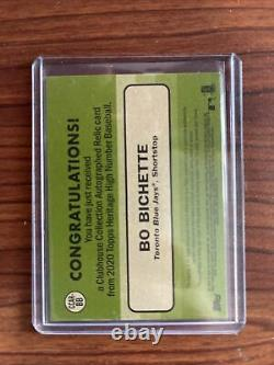 2020 Topps Heritage High Number Bo Bichette Clubhouse Relic Auto 18/25 CCAR-BB