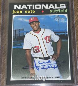 2020 Topps Heritage High Number JUAN SOTO Real One Auto Autograph Nationals SP