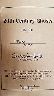 20th Century Ghosts by Joe Hill (Signed) Slipcased 1/200- Ultra High Grade