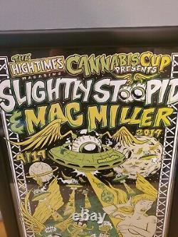 2nd Denver Cannabis High Times Poster Slightly Stoopid Mac Miller Signed #45/50