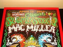 2nd Denver Cannabis High Times Poster Slightly Stoopid Mac Miller Signed #7/100
