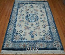 6' x 9' Chinese Art Deco Peking Signed Hand Knotted Wool Oriental Rug Cleaned