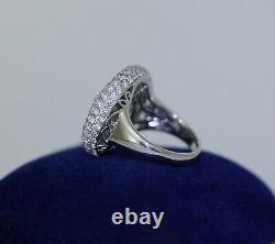 8.07 CTW VS/F Pave 258 Diamonds High Quality Designer Signed 18K With Gold Ring