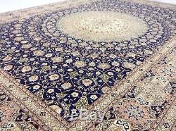 8 x 11.7 Persian Tabriz Gombad Oriental Area Rug KPSI 400 Signed High Quality