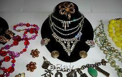 85 Pc Lot Vintage High End Estate Designer Rhinestone Costume Jewelry 45 Signed
