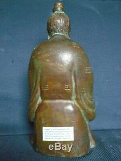 A good Chinese Ming bronze figure of the Immortal'Lu Dogbin'. 30cm. High, signed