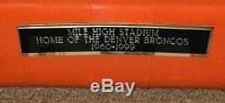 AMAZING Original Mile High Stadium Seat Back #7 SIGNED by Broncos #7 John Elway