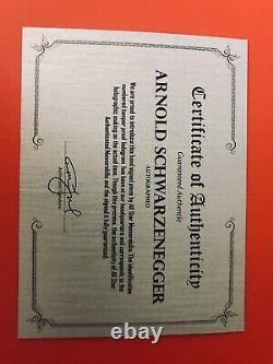 ARNOLD SCHWARZENEGGER Signed on a COMMANDO 8x10 PHOTO, high quality frame