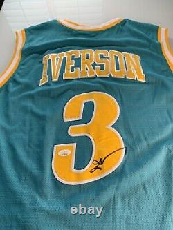 Allen Iverson Autographed/Signed Jersey JSA Sticker Bethel High School HOF