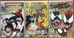 Amazing Spider-Man Carnage 344 345 360 361 362 363 High Grade 9.6+ NM+ signed
