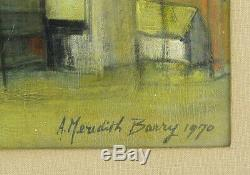Anne Meredith Barry (1931-2003) Canadian Listed Mixed Media High River Alberta