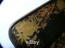 Antique Papier mache tray 515 mm x 395 mm. X 45 high. Signed Illidge / dated