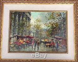 Antoine Blanchard, highly collectible French impressionist oil. 9 x 13